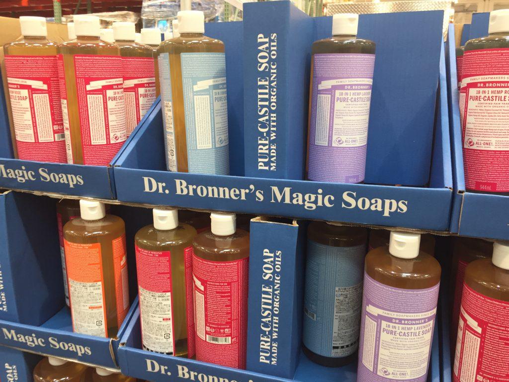 コストコに売ってるドクターブロナーマジックソープ