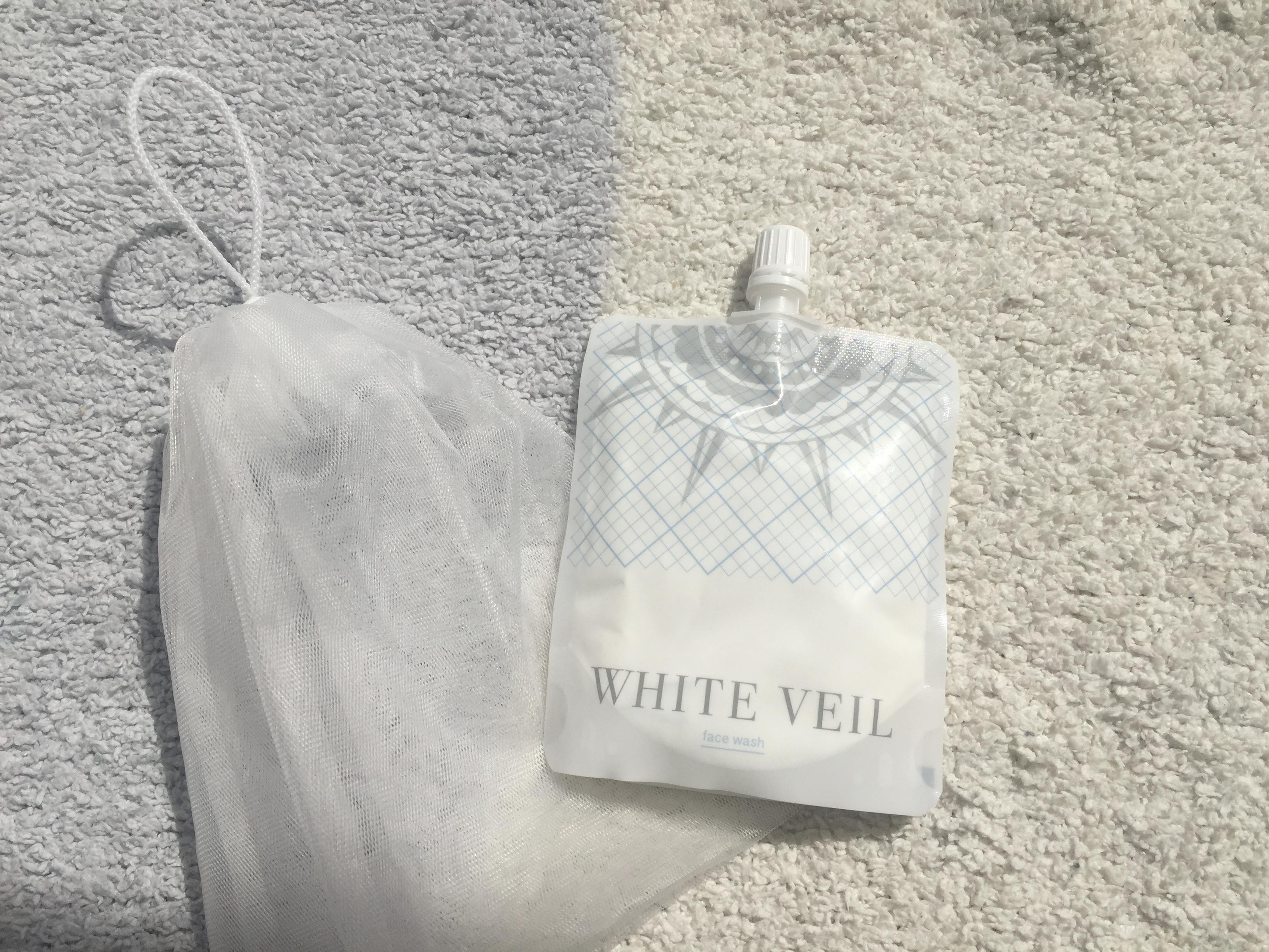 ホワイトヴェール白雪洗顔と泡だてネット